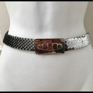 Vintage Silver Metal Fishscale Belt